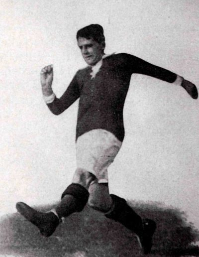 Gottfried Fuchs in action, before 1915 (Photo: Wikimedia Commons)