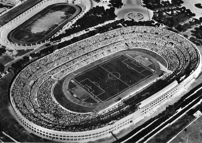 Panoramic view of the Olympic Stadium in Rome in the 1950s (Photo: Wikimedia Commons)