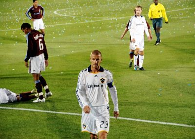 Beckham in the match Colorado Rapids vs. LA Galaxy 3/28/08 Rapids 4 LA 0 (Photo: Raj Patel)