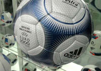 Official Euro 2000 ball rolled in two countries in the co-hosted tournament