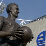 Nat Lofthouse statue outside Bolton Wanderers' stadium