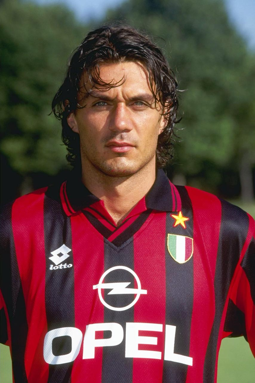 Paolo Maldini, AC Milan 1996/97 (Source: UEFA Champions League, #FlashbackFriday Tweet. May 19, 2017)
