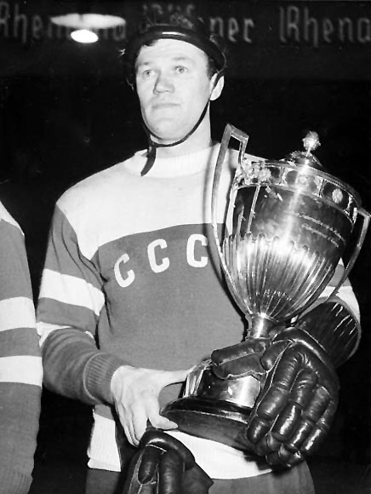 Vsevolod Bobrov of the USSR at the 1956 Winter Olympics in Cortina-d'Ampezzo, Italy
