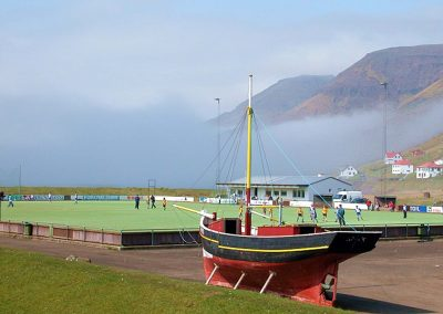 Field of the club SÍ Sørvágur on Faroe Island (Photo: Erik Christensen)