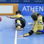 Goalball at the 2008 Paralympics in Athens (Photo: Helene Stjernlöf)