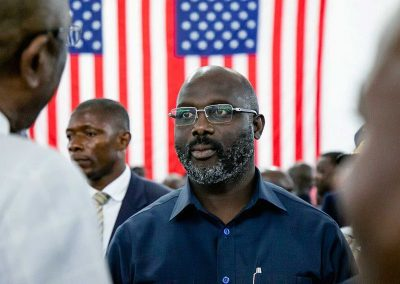 President George Weah in 2019 (Photo: US Embassy Monrovia)