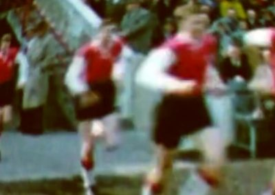 Eintracht Frankfurt team entering the field in 1966