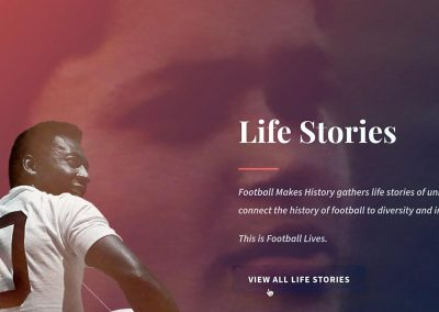 "Section ""Life Stories"" of FMH Website"