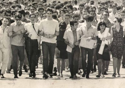 Student manifestation at the start of the dictatorship, 9 September 1966 (Photo: National Archive of Brazil).