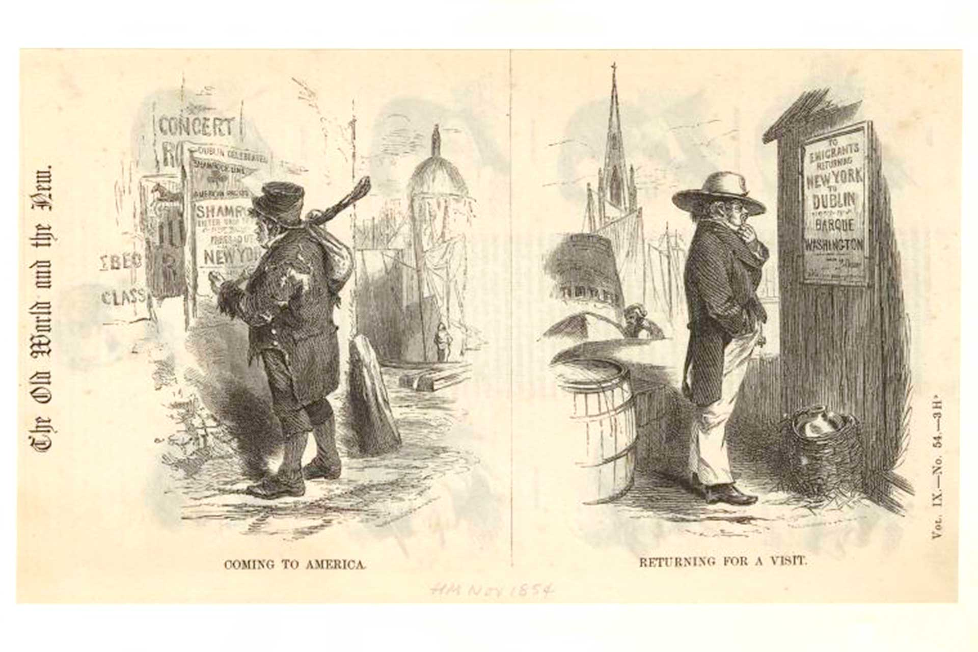 Coming To America; Returning For A Visit (Source: The Miriam and Ira D. Wallach Division of Art, Prints and Photographs: Picture Collection, The New York Public Library. Richardson & Cox, 1854).