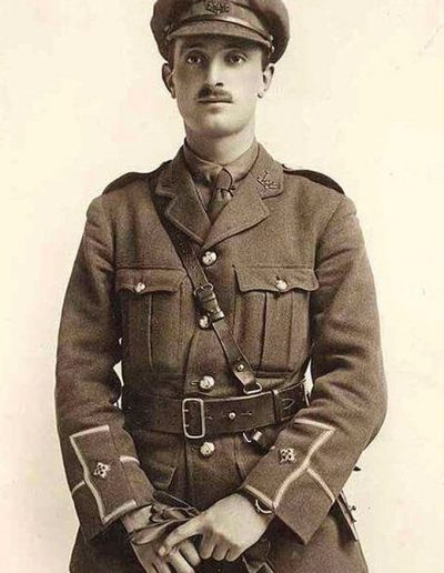 Donald Bell in his uniform as a second lieutenant in the British Army.