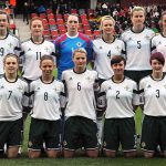 Northern Ireland women's football team before a defeat in Sweden (Photo: Anders Henrikson).