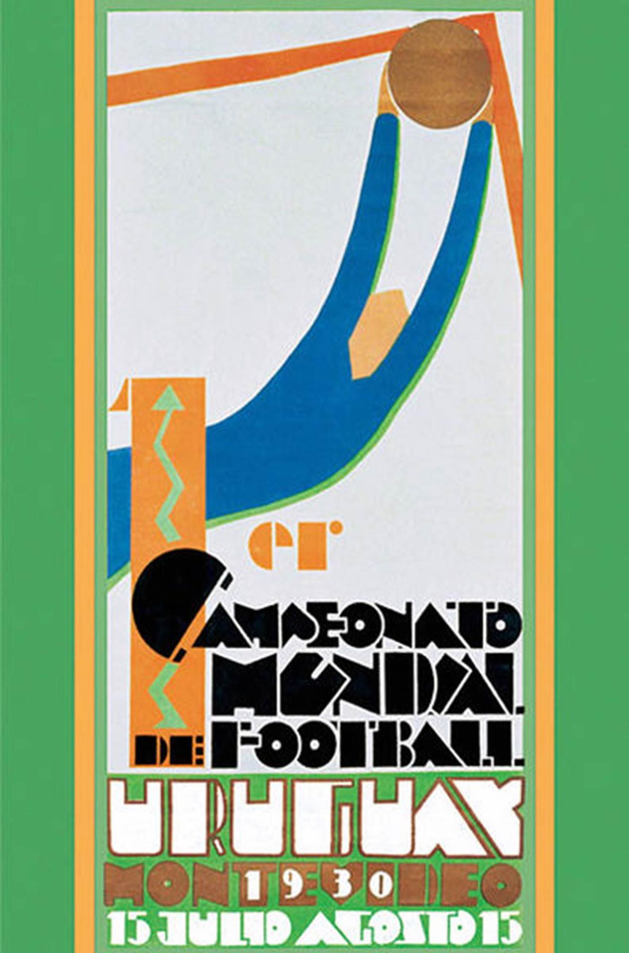 Official poster of the 1930 Football World Cup.