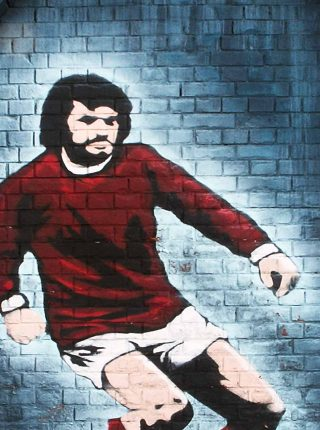 Graffiti of George Best in Northern Ireland, 2005 (Photo: Andy Welsh)