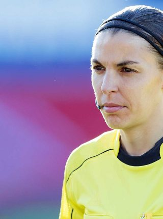 Stephanie Frappart, in charge of Germany versus Iceland, 2017 (Photo: Sven Mandel, Wikimedia Commons)